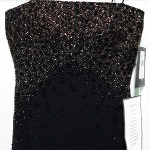 JS Boutique Formal Full Length Beaded Black Dress